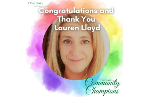 Lauren Lloyd Community Champion